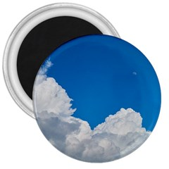 Sky Clouds Blue White Weather Air 3  Magnets by BangZart