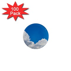 Sky Clouds Blue White Weather Air 1  Mini Magnets (100 Pack)  by BangZart