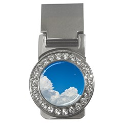 Sky Clouds Blue White Weather Air Money Clips (cz)  by BangZart