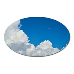 Sky Clouds Blue White Weather Air Oval Magnet by BangZart