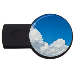 Sky Clouds Blue White Weather Air Usb Flash Drive Round (2 Gb) by BangZart