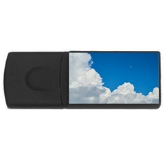 Sky Clouds Blue White Weather Air Usb Flash Drive Rectangular (4 Gb) by BangZart