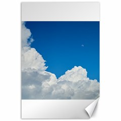 Sky Clouds Blue White Weather Air Canvas 24  X 36  by BangZart