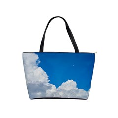 Sky Clouds Blue White Weather Air Shoulder Handbags by BangZart