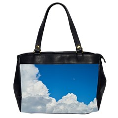 Sky Clouds Blue White Weather Air Office Handbags (2 Sides)  by BangZart