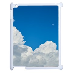 Sky Clouds Blue White Weather Air Apple Ipad 2 Case (white) by BangZart