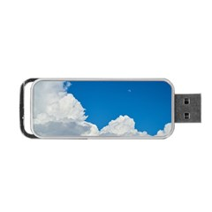 Sky Clouds Blue White Weather Air Portable Usb Flash (two Sides) by BangZart