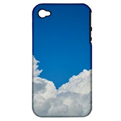 Sky Clouds Blue White Weather Air Apple Iphone 4/4s Hardshell Case (pc+silicone) by BangZart