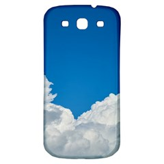 Sky Clouds Blue White Weather Air Samsung Galaxy S3 S Iii Classic Hardshell Back Case by BangZart