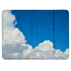 Sky Clouds Blue White Weather Air Samsung Galaxy Tab 7  P1000 Flip Case by BangZart
