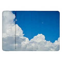 Sky Clouds Blue White Weather Air Samsung Galaxy Tab 8 9  P7300 Flip Case by BangZart