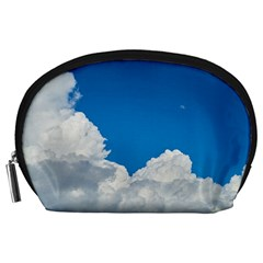 Sky Clouds Blue White Weather Air Accessory Pouches (large)