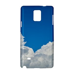 Sky Clouds Blue White Weather Air Samsung Galaxy Note 4 Hardshell Case by BangZart
