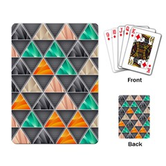 Abstract Geometric Triangle Shape Playing Card by BangZart