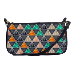 Abstract Geometric Triangle Shape Shoulder Clutch Bags by BangZart