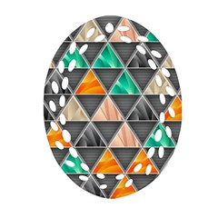 Abstract Geometric Triangle Shape Oval Filigree Ornament (two Sides) by BangZart