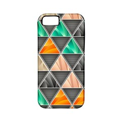 Abstract Geometric Triangle Shape Apple Iphone 5 Classic Hardshell Case (pc+silicone) by BangZart