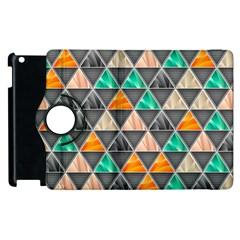 Abstract Geometric Triangle Shape Apple Ipad 3/4 Flip 360 Case by BangZart