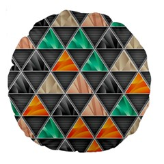 Abstract Geometric Triangle Shape Large 18  Premium Round Cushions by BangZart