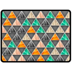 Abstract Geometric Triangle Shape Double Sided Fleece Blanket (large)  by BangZart