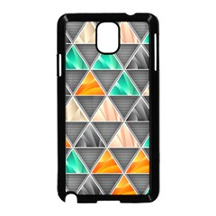Abstract Geometric Triangle Shape Samsung Galaxy Note 3 Neo Hardshell Case (black)