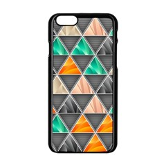 Abstract Geometric Triangle Shape Apple Iphone 6/6s Black Enamel Case