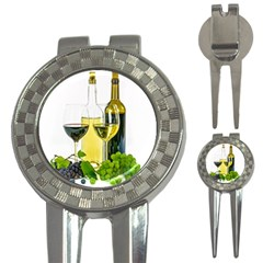White Wine Red Wine The Bottle 3 In 1 Golf Divots by BangZart