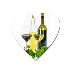 White Wine Red Wine The Bottle Heart Magnet by BangZart