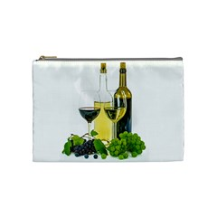 White Wine Red Wine The Bottle Cosmetic Bag (medium)  by BangZart
