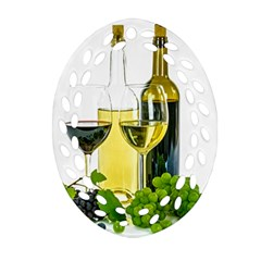 White Wine Red Wine The Bottle Oval Filigree Ornament (two Sides) by BangZart