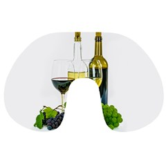 White Wine Red Wine The Bottle Travel Neck Pillows
