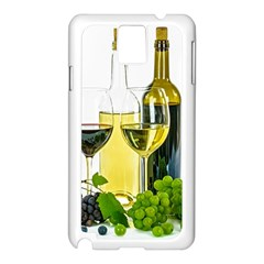 White Wine Red Wine The Bottle Samsung Galaxy Note 3 N9005 Case (white) by BangZart