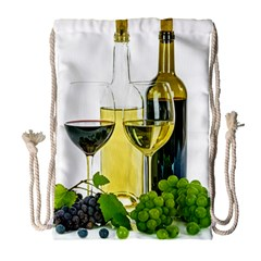 White Wine Red Wine The Bottle Drawstring Bag (large) by BangZart