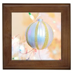 Sphere Tree White Gold Silver Framed Tiles by BangZart