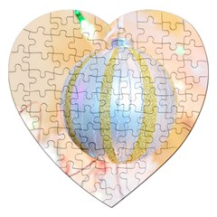 Sphere Tree White Gold Silver Jigsaw Puzzle (heart) by BangZart