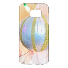Sphere Tree White Gold Silver Samsung Galaxy S7 Edge Hardshell Case by BangZart
