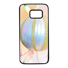 Sphere Tree White Gold Silver Samsung Galaxy S7 Black Seamless Case by BangZart