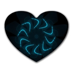 Background Abstract Decorative Heart Mousepads by BangZart
