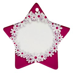 Photo Frame Transparent Background Ornament (star) by BangZart