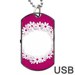 Photo Frame Transparent Background Dog Tag Usb Flash (two Sides) by BangZart