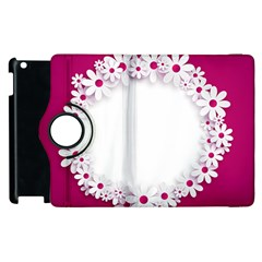 Photo Frame Transparent Background Apple Ipad 2 Flip 360 Case by BangZart