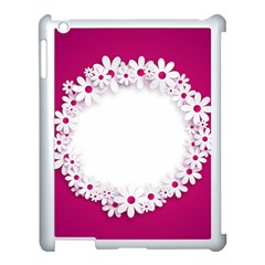 Photo Frame Transparent Background Apple Ipad 3/4 Case (white) by BangZart