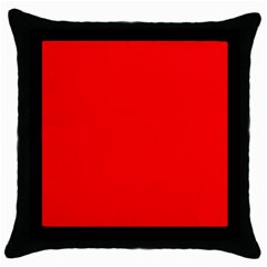 Solid Christmas Red Velvet Throw Pillow Case (black) by PodArtist