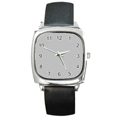 Solid Christmas Silver Square Metal Watch by PodArtist