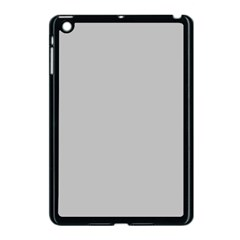 Solid Christmas Silver Apple Ipad Mini Case (black) by PodArtist