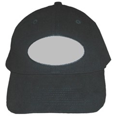Solid Christmas Silver Black Cap