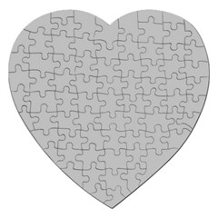 Solid Christmas Silver Jigsaw Puzzle (heart) by PodArtist