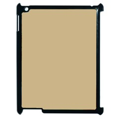 Solid Christmas Gold Apple Ipad 2 Case (black)