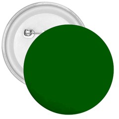 Solid Christmas Green Velvet Classic Colors 3  Buttons by PodArtist