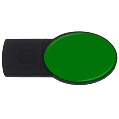 Solid Christmas Green Velvet Classic Colors Usb Flash Drive Oval (4 Gb) by PodArtist